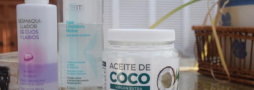 Probando Desmaquillantes De Deliplus Y Aceite De Coco De Mercadona